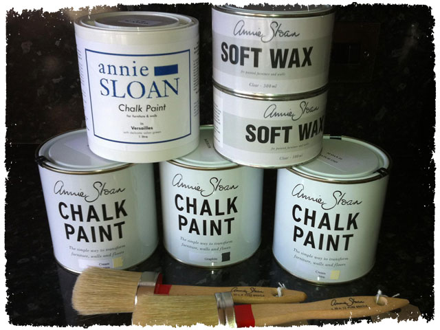 Annie Sloan Chalk Paint Cans Stacked