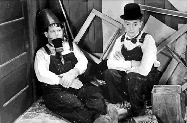 Wax or varnish over chalk paint, Laurel and Hardy mess