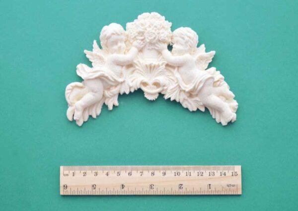 Small Cherub Bouquet Moulding