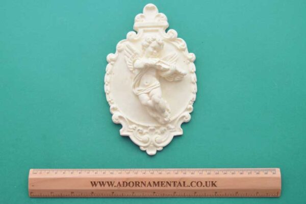 Ornate Cherub Plaque Moulding