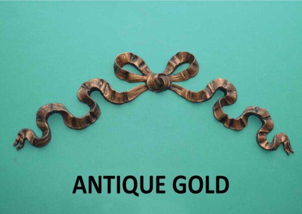 Antique Gold Large Bow Moulding