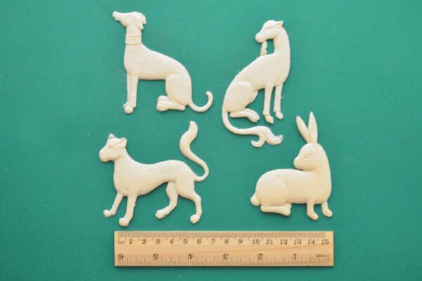 Medieval Animals - Set of 4 Resin Moulding