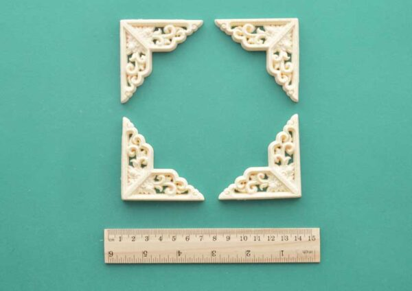 Border and Scrolls Corner x 4 Resin Moulding