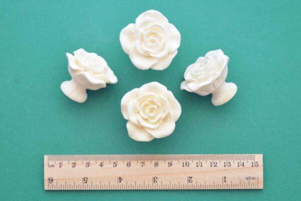 Rose Handle Knob Pull Set of 4