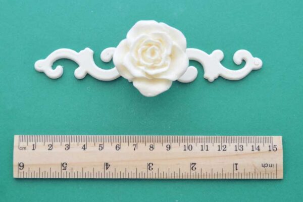 Rose Handle Scroll Back-plate