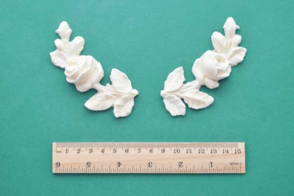 Curved Rose Stem Mouldings