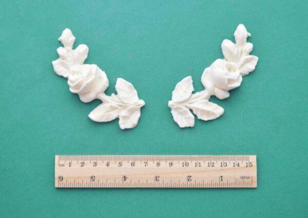 Curved Rose Stem Mouldings