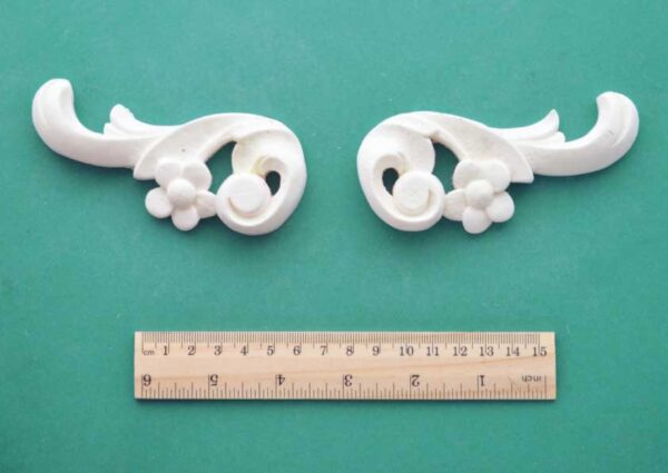 French Floral Scroll Pair