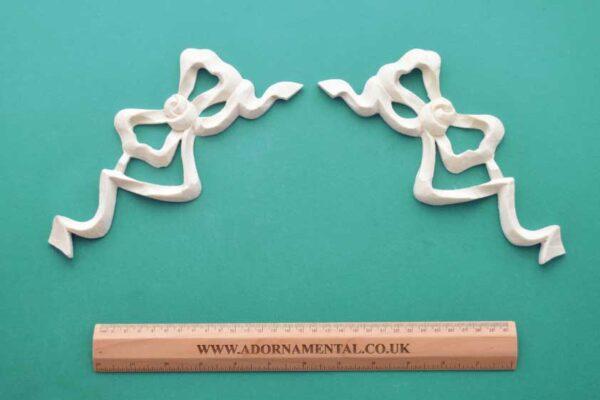 Large Ribbon Bow Pair