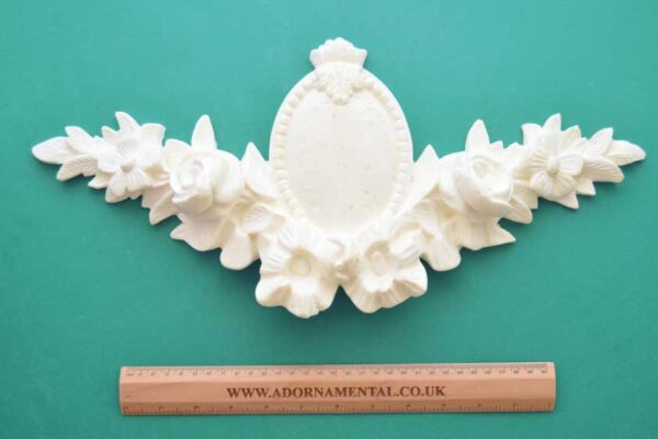 Antique French Rose Pediment