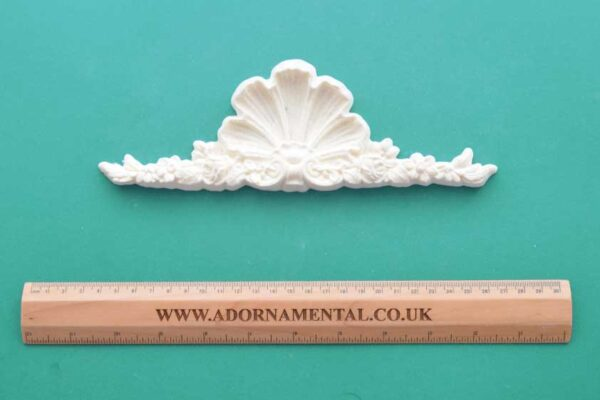 Victorian Rose Shell Pediment