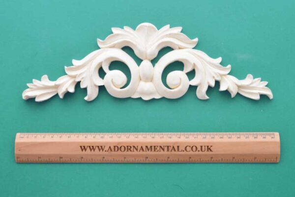 Medium Scroll Fleur-de-Lys Pediment