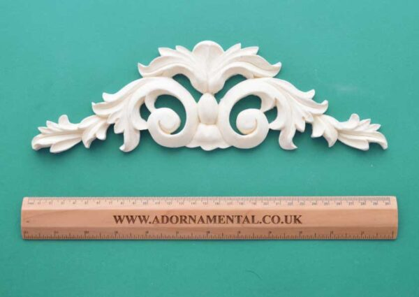 Medium Scroll and Fleur-de-Lys Pediment