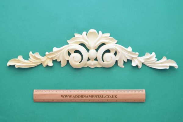 Large Scroll Fleur-de-Lys Pediment