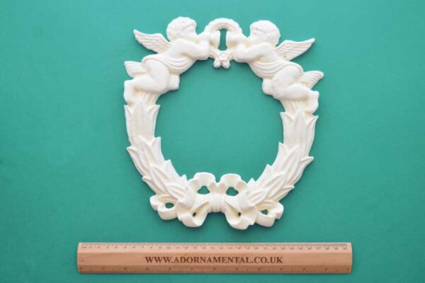Large Cherub Angel Wreath