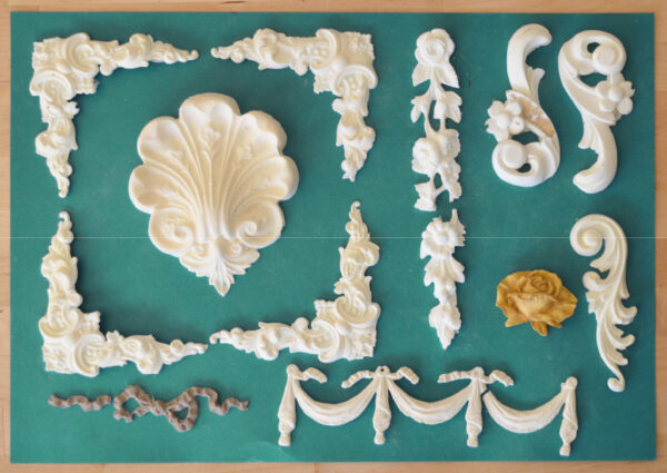 Mystery box of resin mouldings 1