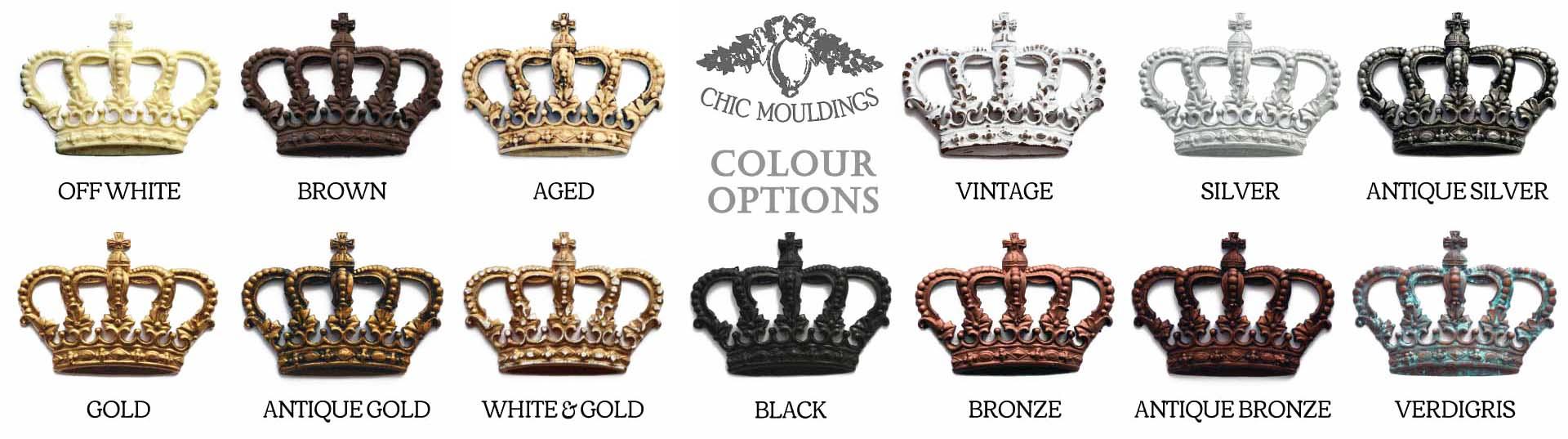 decorative furniture mouldings colour range